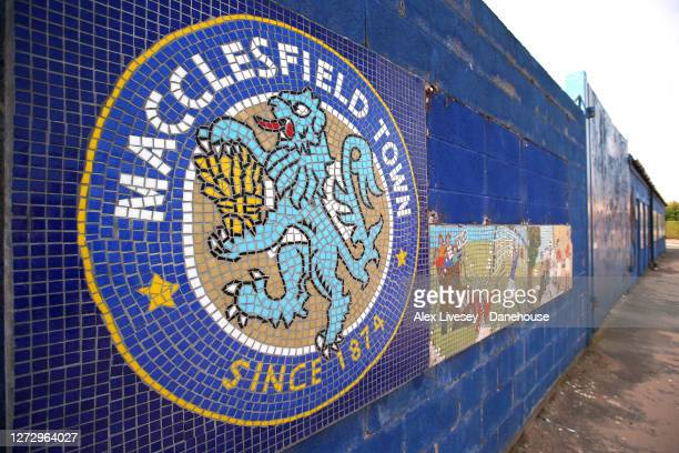 General view outside the Moss Rose ground, home of Macclesfield Town, is seen on September 17, 2020 in Macclesfield, England. Macclesfield Town have...