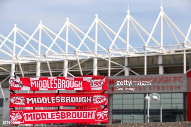 General view outside the Riverside Stadium is seen prior to the Premier League match between Middlesbrough and Manchester City at Riverside Stadium...