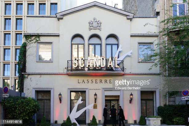 General view outside the Scandal A Paris JeanPaul Gaultier's New Fragance Launch Dinner Party At Lassere on April 24 2019 in Paris France