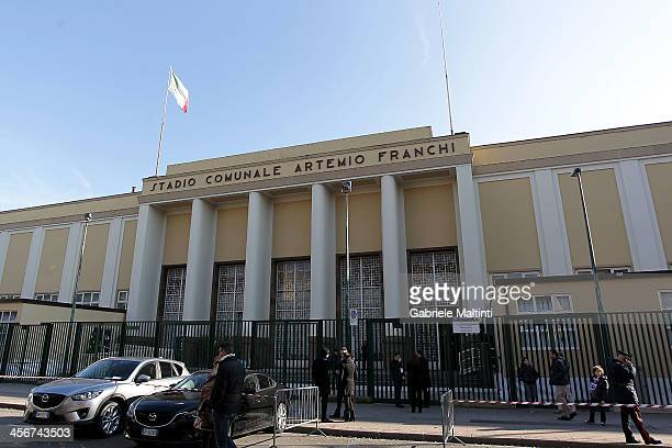 A general view outside the Stadio Artemio Franchi before during the Serie A match between ACF Fiorentina and Bologna FC at Stadio Artemio Franchi on...