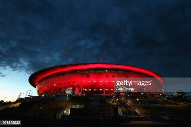 General view outside the stadium after the 2018 FIFA World Cup Russia group A match between Russia and Egypt at Saint Petersburg Stadium on June 19...