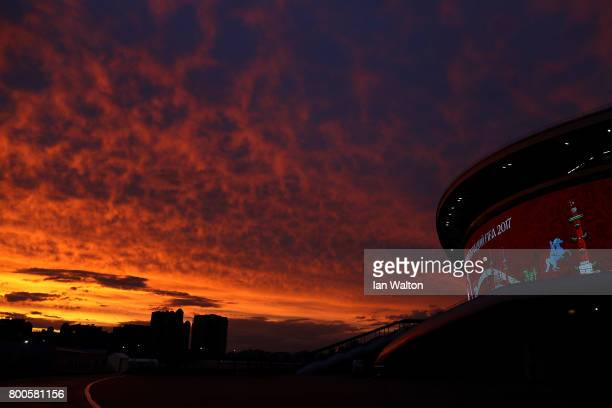 General view outside the stadium after the FIFA Confederations Cup Russia 2017 Group A match between Mexico and Russia at Kazan Arena on June 24 2017...