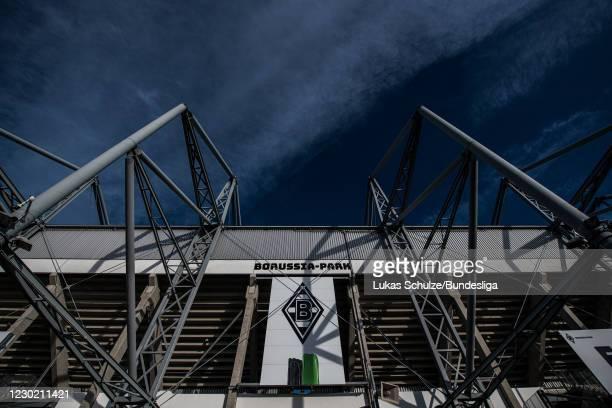 General view outside the stadium ahead of the Bundesliga match between Borussia Mönchengladbach and TSG Hoffenheim at Borussia-Park on December 19,...