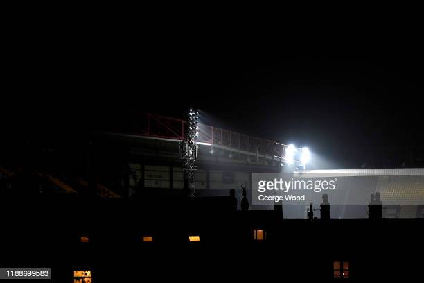 A general view outside the stadium ahead of the FA Cup First Round Replay match between Bradford City and Shrewsbury Town at Coral Windows Stadium...