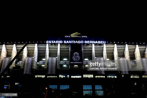A general view outside the stadium ahead of the La Liga match between Real Madrid CF and FC Barcelona at Estadio Santiago Bernabeu on March 02 2019...
