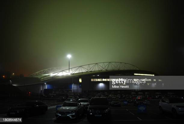 General view outside the stadium ahead of the Premier League match between Brighton & Hove Albion and Crystal Palace at American Express Community...