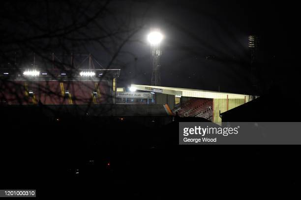 A general view outside the stadium ahead of the Sky Bet Championship match between Barnsley and Preston North End at Oakwell Stadium on January 21...