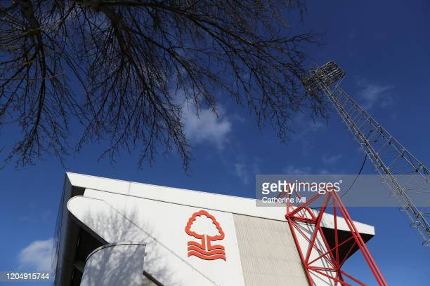 General view outside the stadium ahead of the Sky Bet Championship match between Nottingham Forest and Leeds United at City Ground on February 08,...