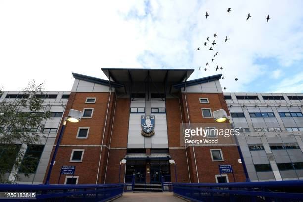 General view outside the stadium ahead of the Sky Bet Championship match between Sheffield Wednesday and Huddersfield Town at Hillsborough Stadium on...