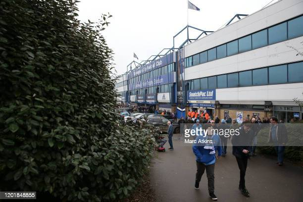 General view outside the stadium as fans arrive prior to the FA Cup Fourth Round match between Coventry City and Birmingham City at St Andrew's...