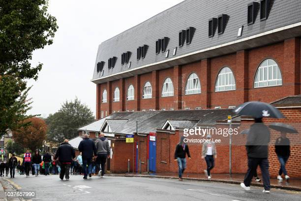 General view outside the stadium as fans arrive prior to the Premier League match between Crystal Palace and Newcastle United at Selhurst Park on...