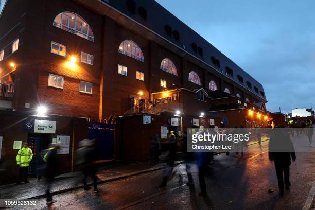General view outside the stadium as fans arrive prior to the Premier League match between Crystal Palace and Tottenham Hotspur at Selhurst Park on...