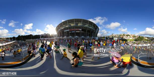 A general view outside the stadium before the 2014 FIFA World Cup Brazil Round of 16 match between Belgium v USA at Arena Fonte Nova on July 1 2014...