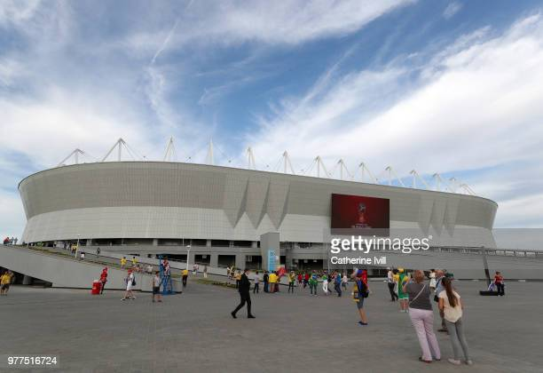 General view outside the stadium before the 2018 FIFA World Cup Russia group E match between Brazil and Switzerland at Rostov Arena on June 17 2018...