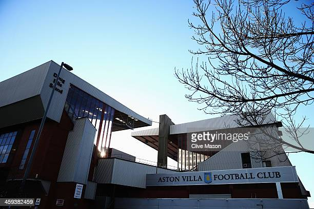 General view outside the stadium before the Barclays Premier League match between Aston Villa and Crystal Palace at Villa Park on December 26 2013 in...