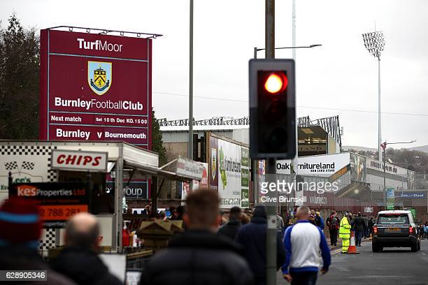 General view outside the stadium before the Premier League match between Burnley and AFC Bournemouth at Turf Moor on December 10 2016 in Burnley...