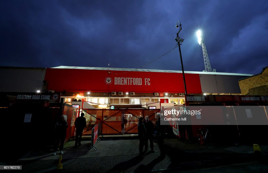 General view outside the stadium before the Sky Bet Championship match between Brentford and Birmingham City at Griffin Park on February 20, 2018 in Brentford, England.