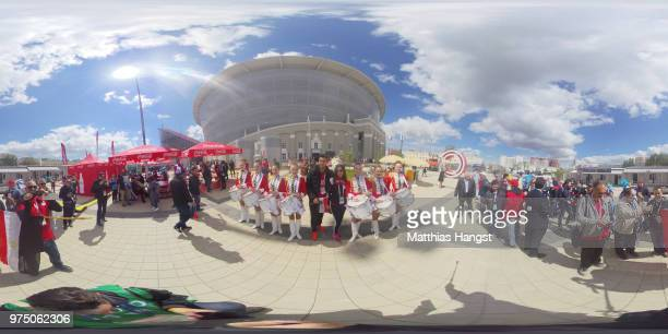 General view outside the stadium during the 2018 FIFA World Cup Russia group A match between Egypt and Uruguay at Ekaterinburg Arena on June 15 2018...