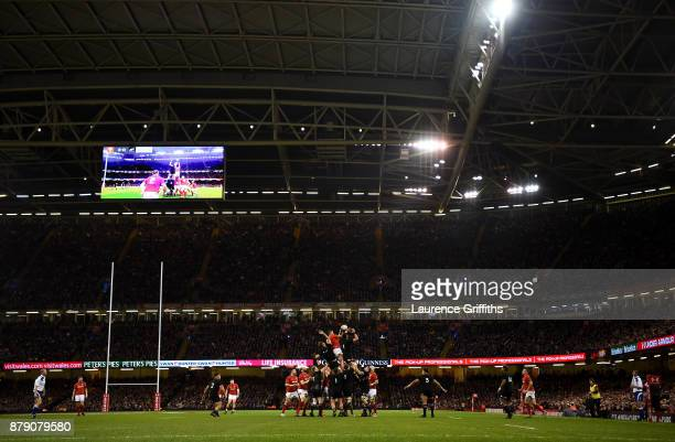 General view outside the stadium during the International match between Wales and New Zealand at Principality Stadium on November 25 2017 in Cardiff...