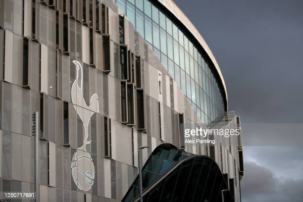 A general view outside the stadium during the Premier League match between Tottenham Hotspur and Manchester United at Tottenham Hotspur Stadium on...