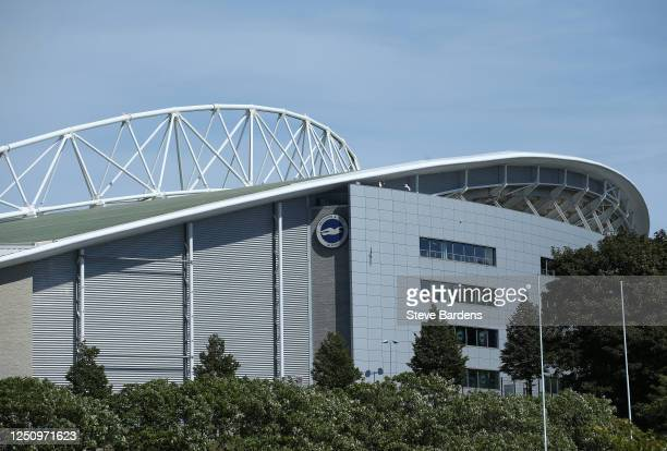 General view outside the stadium during the Premier League match between Brighton & Hove Albion and Arsenal FC at American Express Community Stadium...