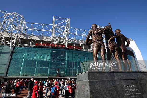 General view outside the stadium during the Premier League match between Manchester United and Stoke City at Old Trafford on October 2 2016 in...