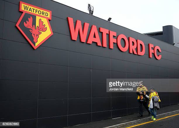 General view outside the stadium during the Premier League match between Watford and Stoke City at Vicarage Road on November 27 2016 in Watford...