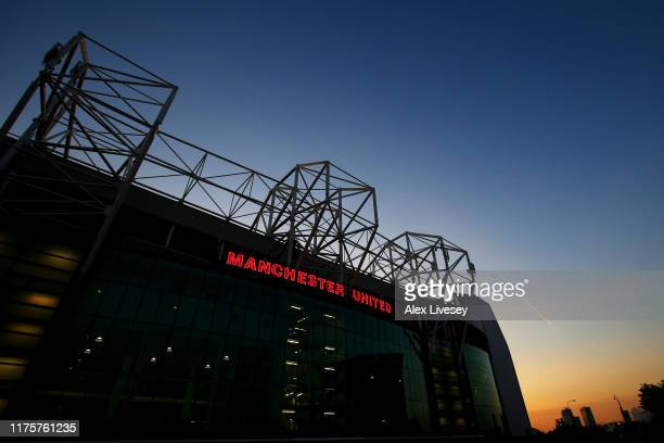 General view outside the stadium during the UEFA Europa League group L match between Manchester United and FK Astana at Old Trafford on September 19,...