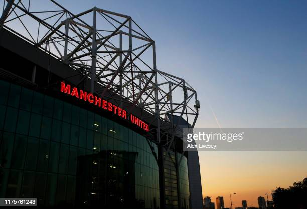 General view outside the stadium during the UEFA Europa League group L match between Manchester United and FK Astana at Old Trafford on September 19...