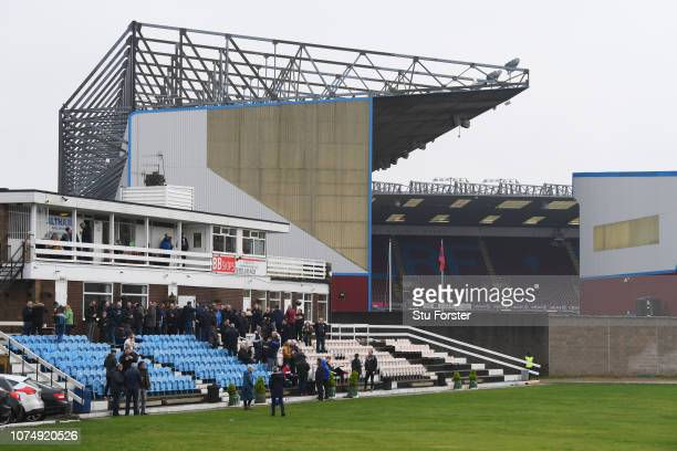 General view outside the stadium from Burnley Cricket Club prior to the Premier League match between Burnley FC and Everton FC at Turf Moor on...
