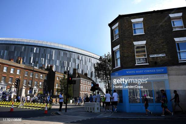 General view outside the stadium from White Hart Lane is seen prior to the Premier League match between Tottenham Hotspur and Newcastle United at...
