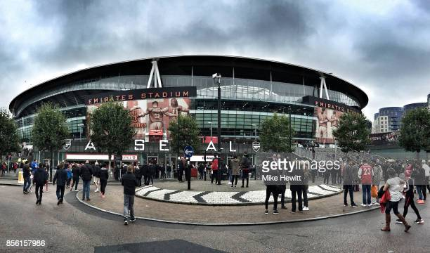 General view outside the stadium prior the Premier League match between Arsenal and Brighton and Hove Albion at Emirates Stadium on October 1 2017 in...