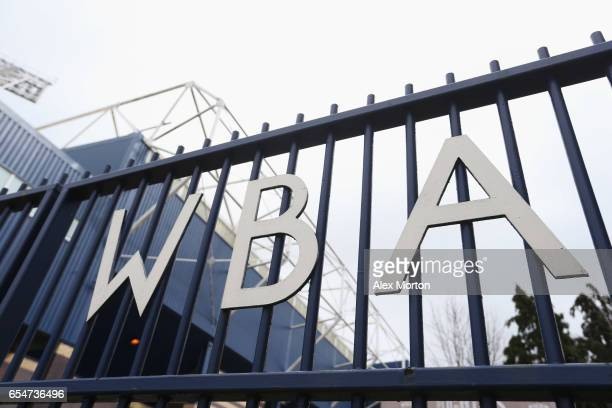 A general view outside the stadium prior to during the Premier League match between West Bromwich Albion and Arsenal at The Hawthorns on March 18...