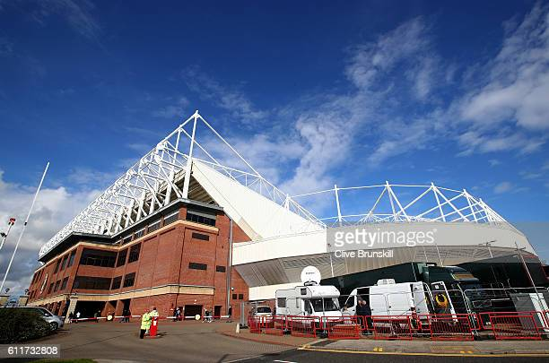 General view outside the stadium prior to kick off during the Premier League match between Sunderland and West Bromwich Albion at Stadium of Light on...