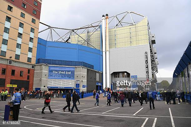 General view outside the stadium prior to kick off during the Premier League match between Chelsea and Leicester City at Stamford Bridge on October...