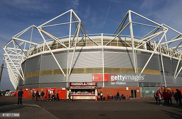 General view outside the stadium prior to kick off during the Premier League match between Southampton and Chelsea at St Mary's Stadium on October 30...