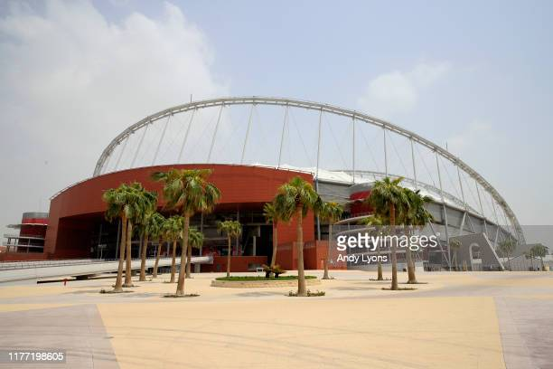 General view outside the stadium prior to prior to the 17th IAAF World Athletics Championships Doha 2019 at Khalifa International Stadium on...