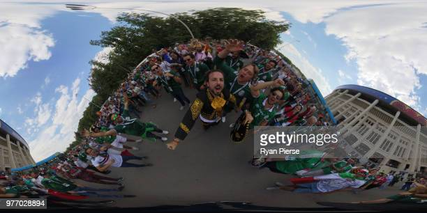 General view outside the stadium prior to the 2018 FIFA World Cup Russia group F match between Germany and Mexico at Luzhniki Stadium on June 17 2018...