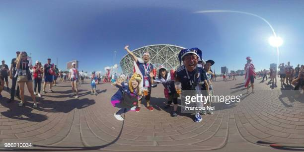 General view outside the stadium prior to the 2018 FIFA World Cup Russia group H match between Japan and Poland at Volgograd Arena on June 28 2018 in...