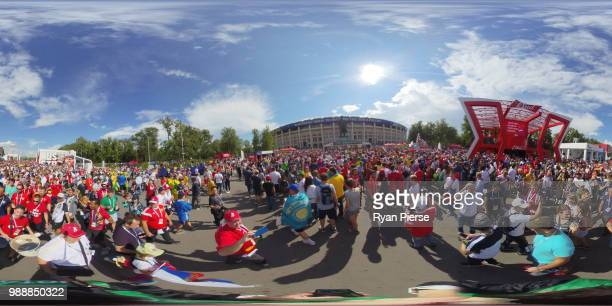 General view outside the stadium prior to the 2018 FIFA World Cup Russia Round of 16 match between Spain and Russia at Luzhniki Stadium on July 1...