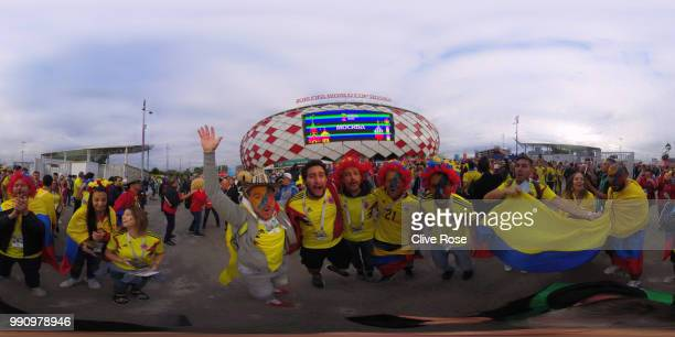 General view outside the stadium prior to the 2018 FIFA World Cup Russia Round of 16 match between Colombia and England at Spartak Stadium on July 3...