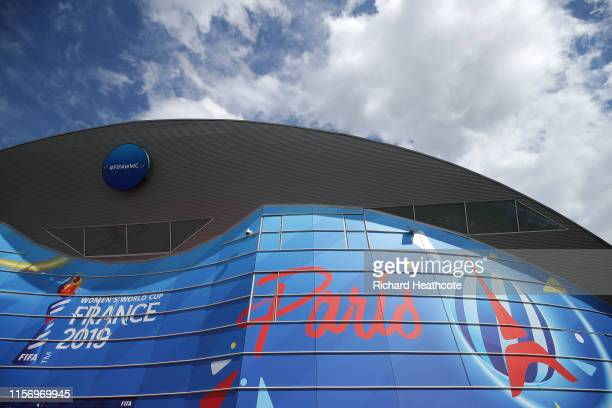 General view outside the stadium prior to the 2019 FIFA Women's World Cup France group D match between Scotland and Argentina at Parc des Princes on...