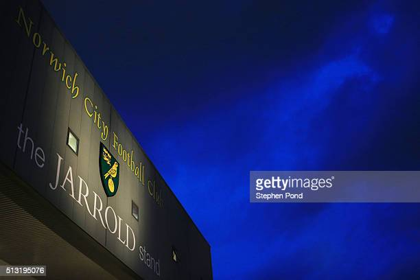 A general view outside the stadium prior to the Barclays Premier League match between Norwich City and Chelsea at Carrow Road on March 1 2016 in...