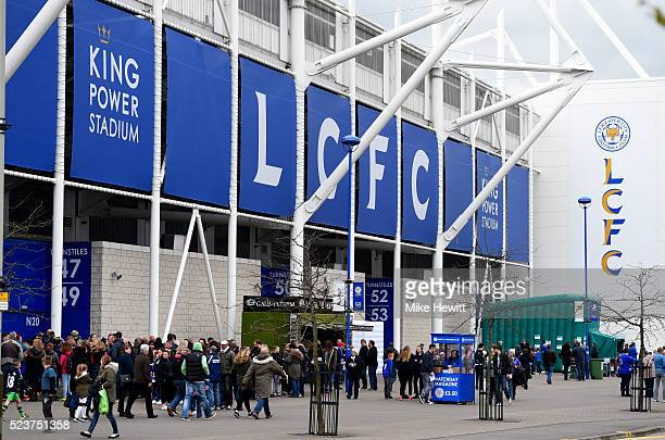 A general view outside the stadium prior to the Barclays Premier League match between Leicester City and Swansea City at The King Power Stadium on...