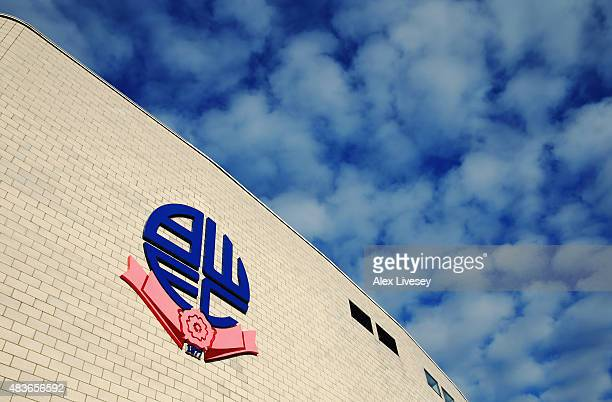 A general view outside the stadium prior to the Capital One Cup first round match between Bolton Wanderers and Burton Albion at Macron Stadium on...