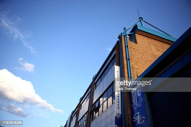 General view outside the stadium prior to the Carabao Cup First Round match between Gillingham and Newport County at MEMS Priestfield Stadium on...