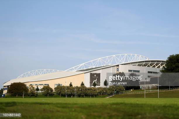 General view outside the stadium prior to the Carabao Cup Second Round match between Brighton Hove Albion and Southampton at American Express...