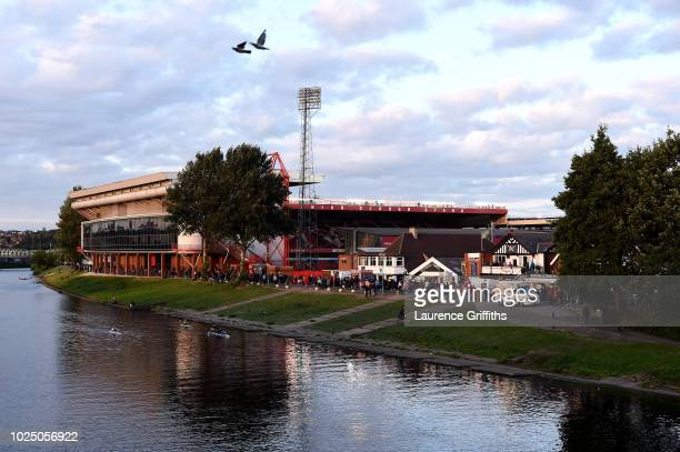 General view outside the stadium prior to the Carabao Cup Second Round match between Nottingham Forest and Newcastle United at City Ground on August...
