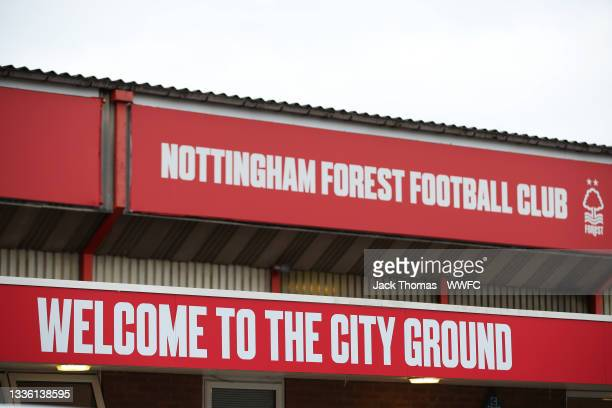 General view outside the stadium prior to the Carabao Cup Second Round match between Nottingham Forest and Wolverhampton Wanderers at City Ground on...