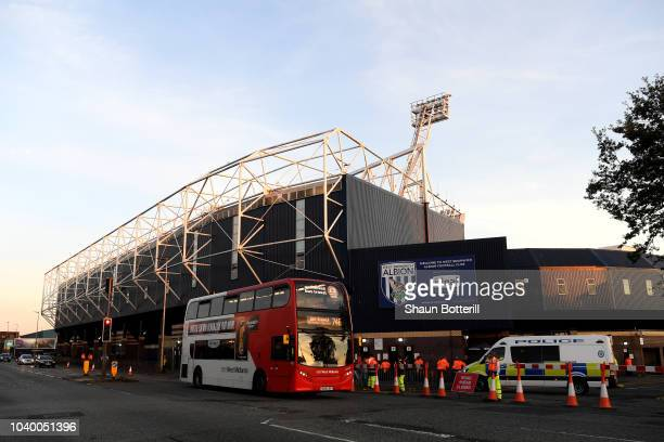 General view outside the stadium prior to the Carabao Cup Third Round match between West Bromwich Albion and Crystal Palace at The Hawthorns on...